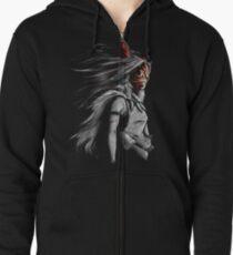 Sudadera con capucha y cremallera Mononoke Wolf Anime Tra Pintura digital