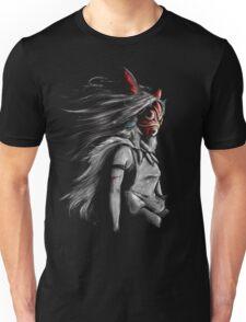 Mononoke Wolf Anime Tra Digital Painting Unisex T-Shirt