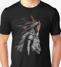 Mononoke Wolf Anime Tra Peinture Numérique T-shirt ajusté