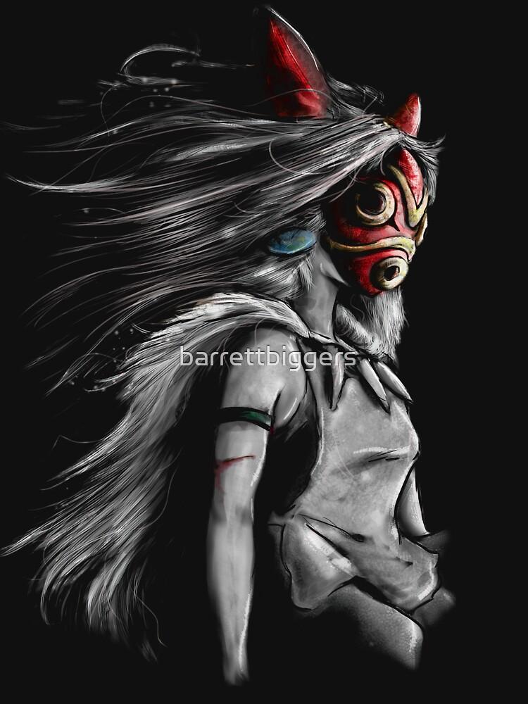 Mononoke Wolf Anime Tra Pintura digital de barrettbiggers