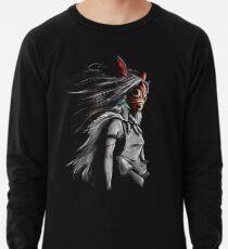 Mononoke Wolf Anime Tra Digital Painting Lightweight Sweatshirt