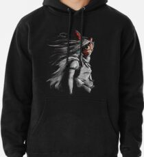 Mononoke Wolf Anime Tra Digital Painting Pullover Hoodie