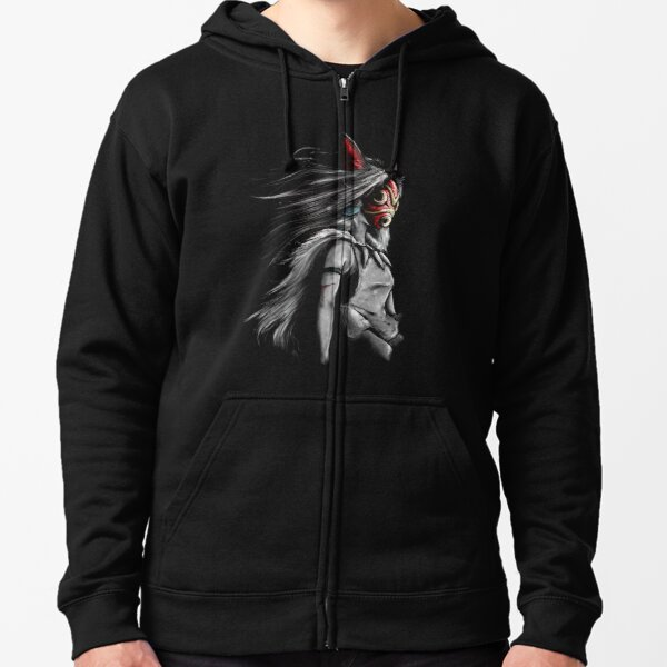 Fury of the Princess Anime Digital Painting Zipped Hoodie