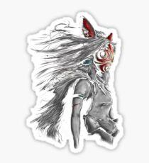 Mononoke Wolf Anime Tra Digital Painting Sticker