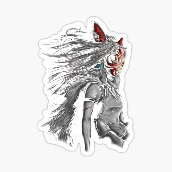 Fury of the Princess Anime Digital Painting Sticker