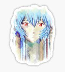 Ayanami Rei Evangelion Anime Tra Digital Painting  Sticker