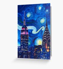 Starry Night in New York - Van Gogh inspired Greeting Card