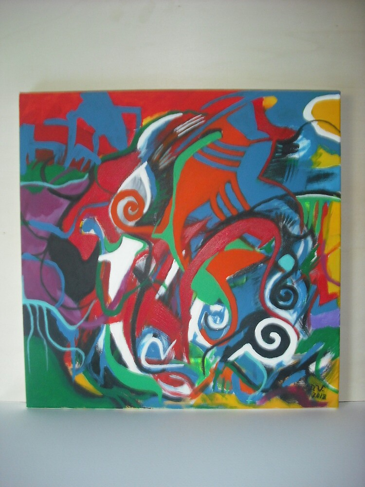 """ The lost world "" Acrylic on canvas. by domenicovignali"