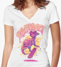Rawrsome Women's Fitted V-Neck T-Shirt