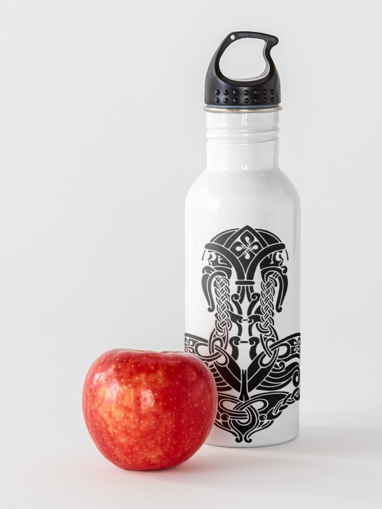 Alternate view of Thor's Hammer Mjölnir - Amulet symbol Water Bottle