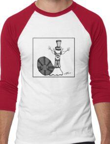 Frederick in Black & White Men's Baseball ¾ T-Shirt