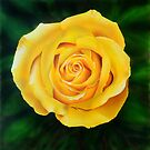 Yellow Rose Painting by jsalozzo