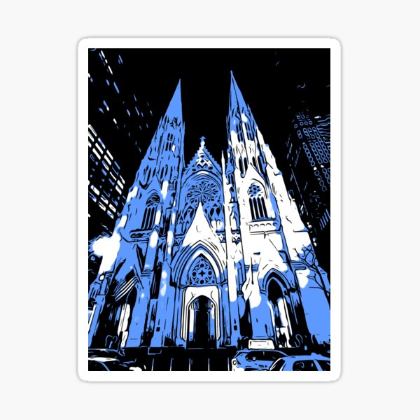 St Patrick's Cathedral, NYC  Sticker