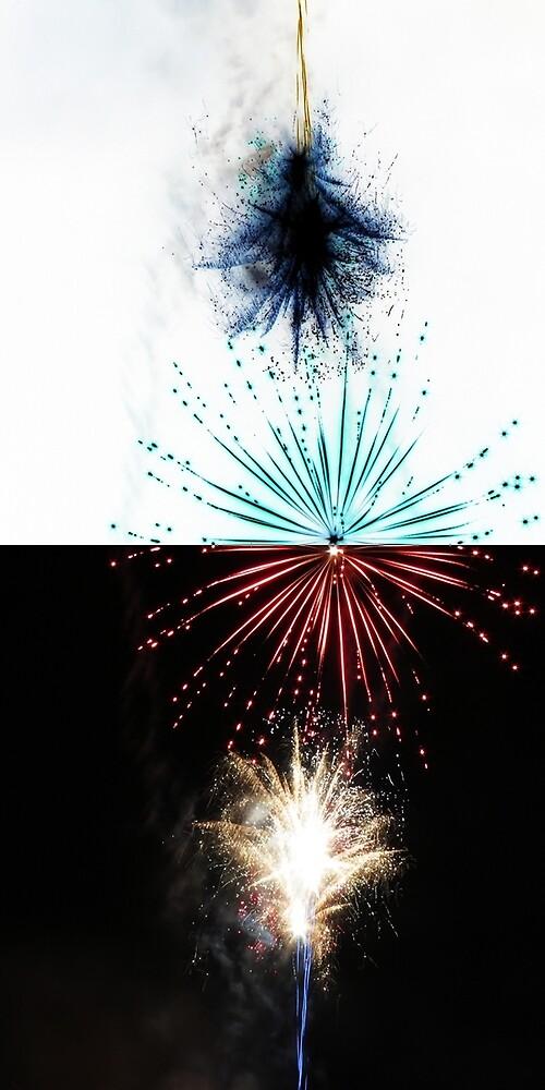 Fireworks inverted by Roger Easley