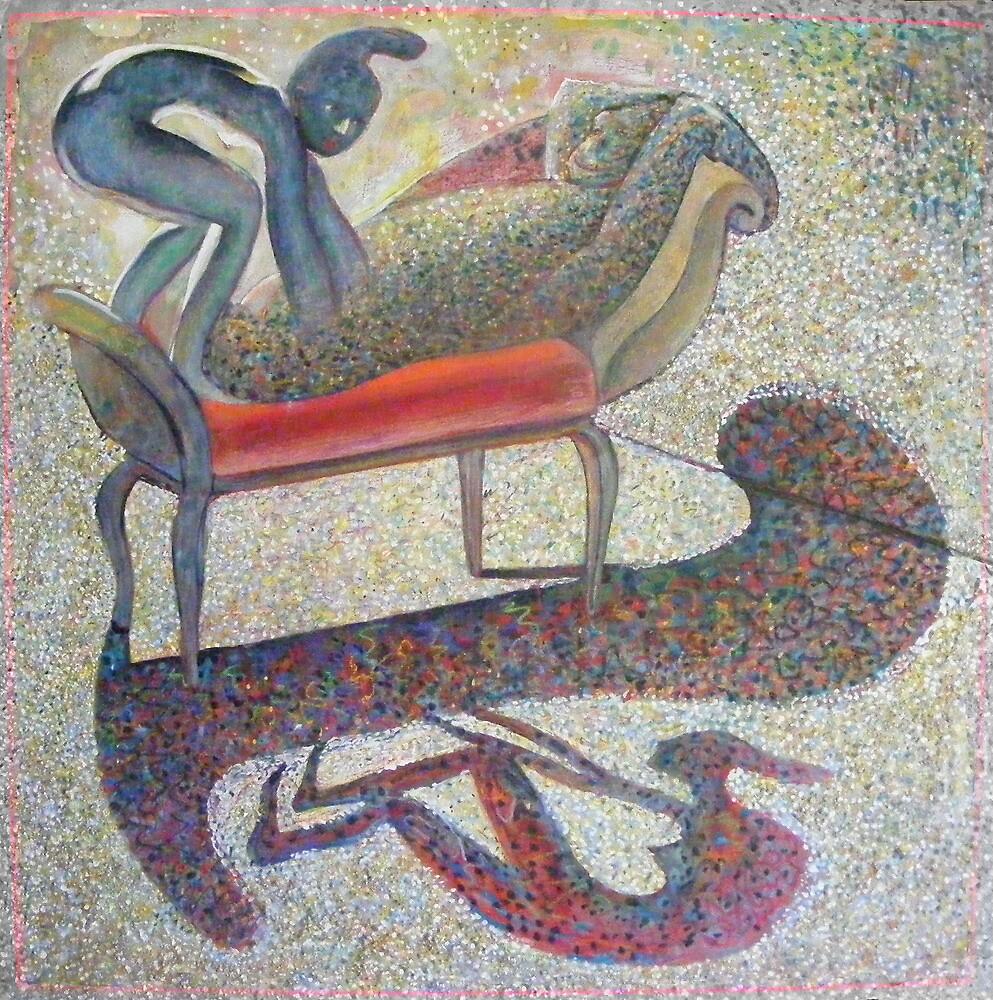 Quadroped.  Surrealism, Nude, Figure, Animal,  by ZabetPucket