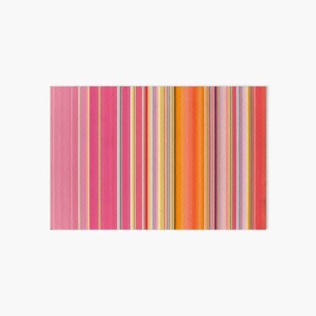 Sablo Lio STRIPES Pink Orange Yellow Art Board Print