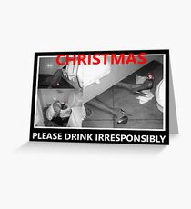 Christmas drinking Greeting Card