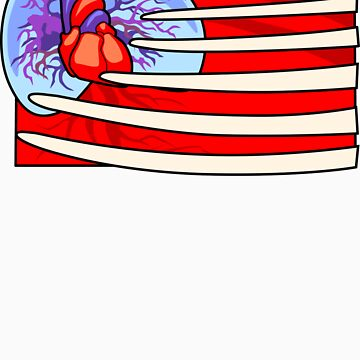 Zombie Heart American Flag by ProminentDetail