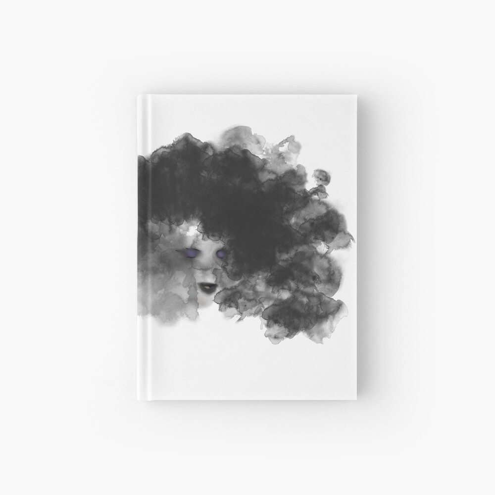 Ink Woman Abstract Digital Watercolor Hardcover Journal