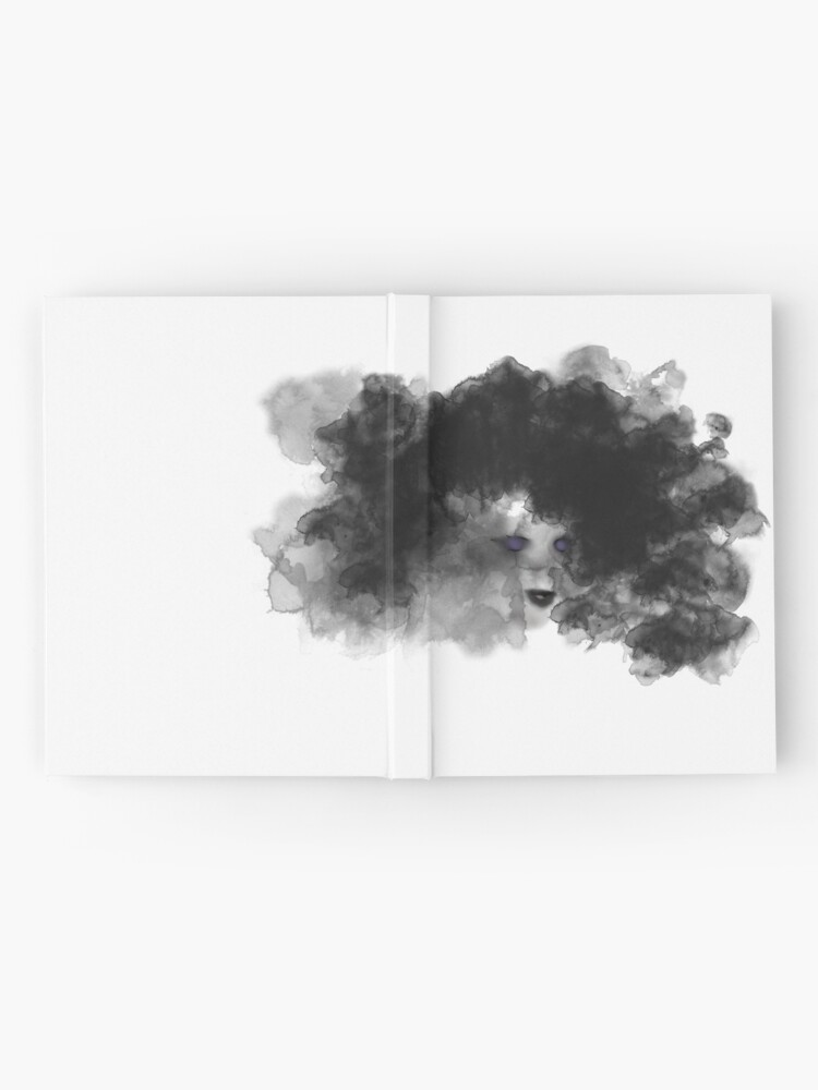 Alternate view of Ink Woman Abstract Digital Watercolor Hardcover Journal