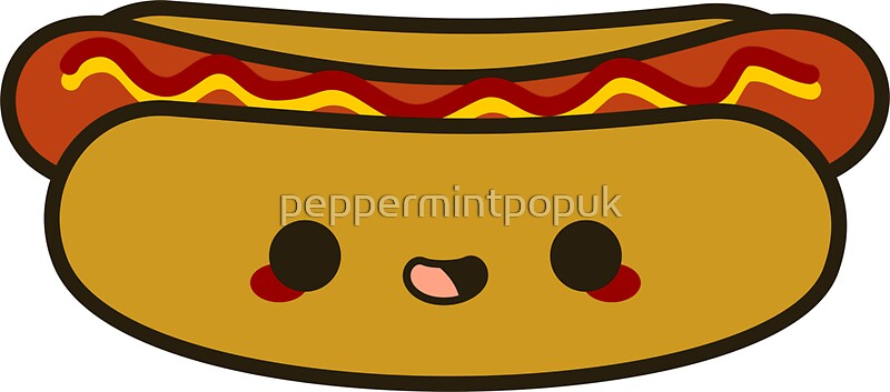 Quot Yummy Kawaii Hot Dog Quot Stickers By Peppermintpopuk Redbubble