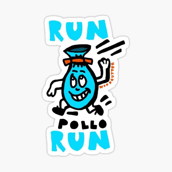 Run Pollo Run  Pegatina