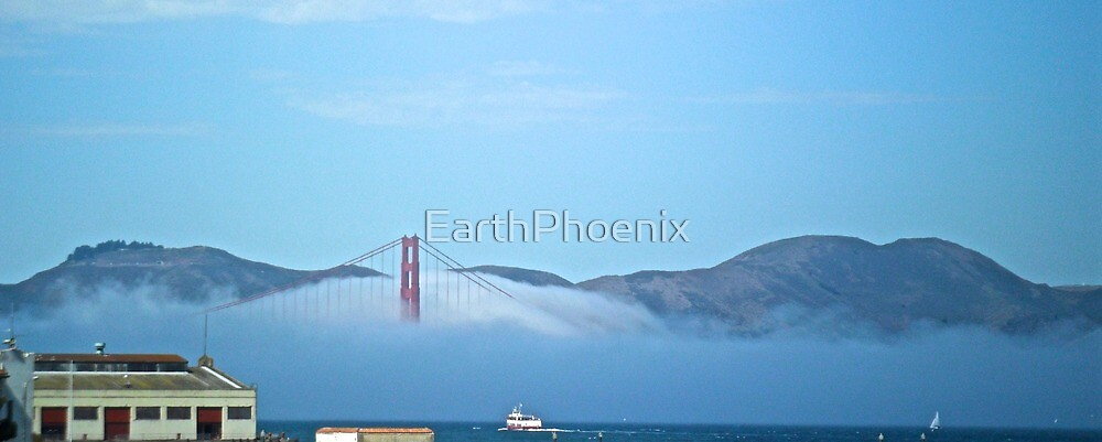Golden Gate Bridge in the Fog by EarthPhoenix