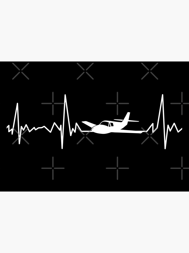 Airplane pilot heartbeat flying by playloud