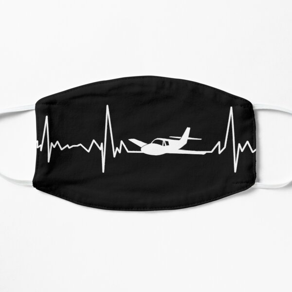 Airplane pilot heartbeat flying Mask