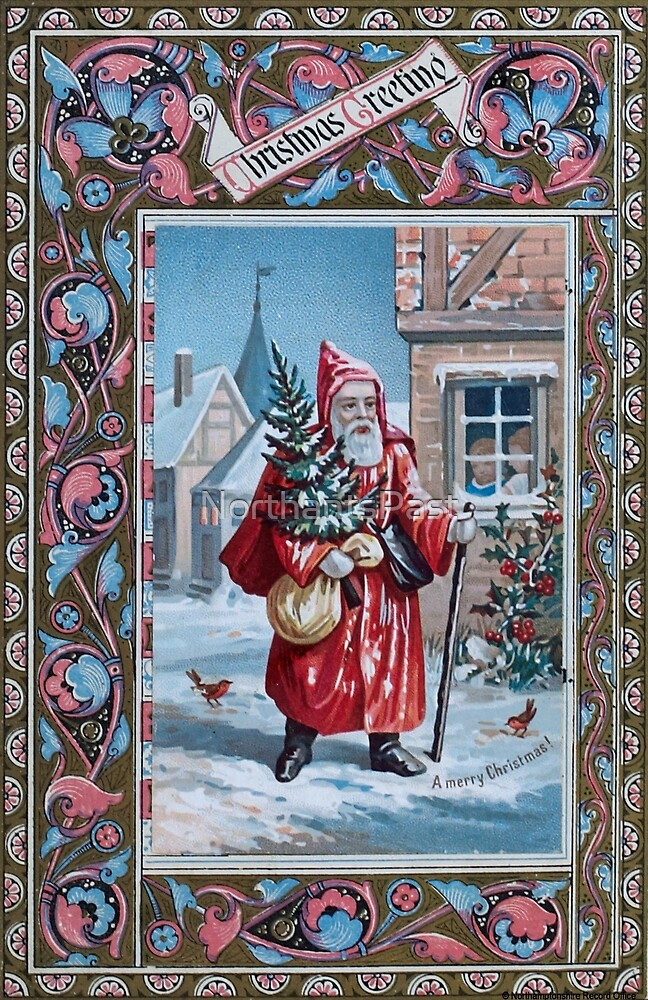 Victorian Christmas card - Father Christmas by NorthantsPast