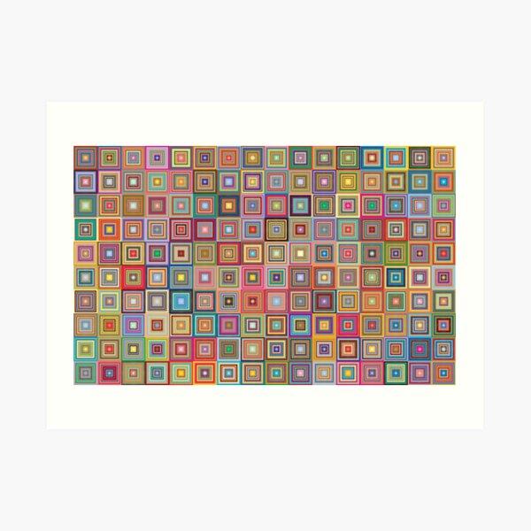 Retro Mid Mod Square Tapestry Art Print