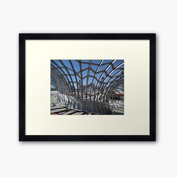 Webb Bridge, Melbourne Framed Art Print