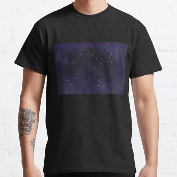 Galaxy Woman Abstract Digital Watercolor Classic T-Shirt