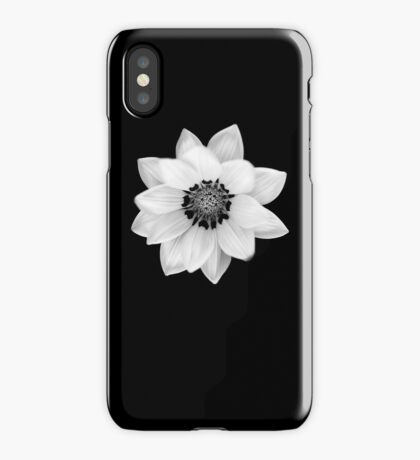 Black and White Gazania Diptych iPhone Case/Skin