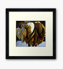 gold leaves Framed Print