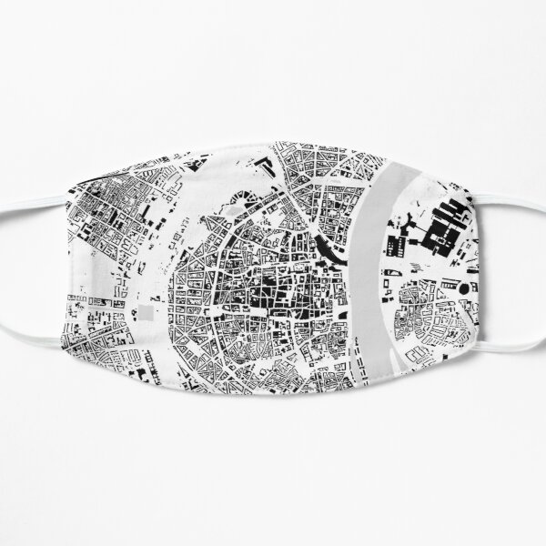 Cologne black & white building city map Mask