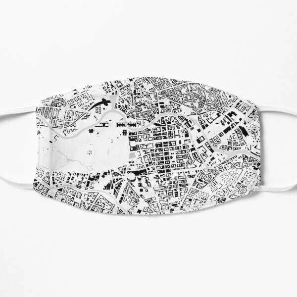 Berlin black & white building city map Mask