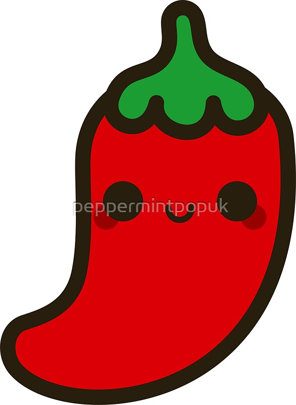Quot Cute Chilli Quot Stickers By Peppermintpopuk Redbubble