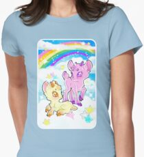 Goatlings in the clouds Women's Fitted T-Shirt