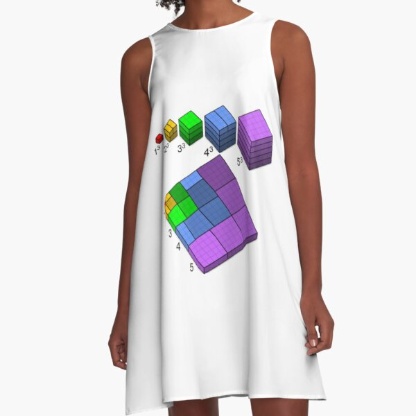 A visual proof of Nicomachus's theorem. It states that the sum of the first n cubes is the square of the nth triangular number. A-Line Dress