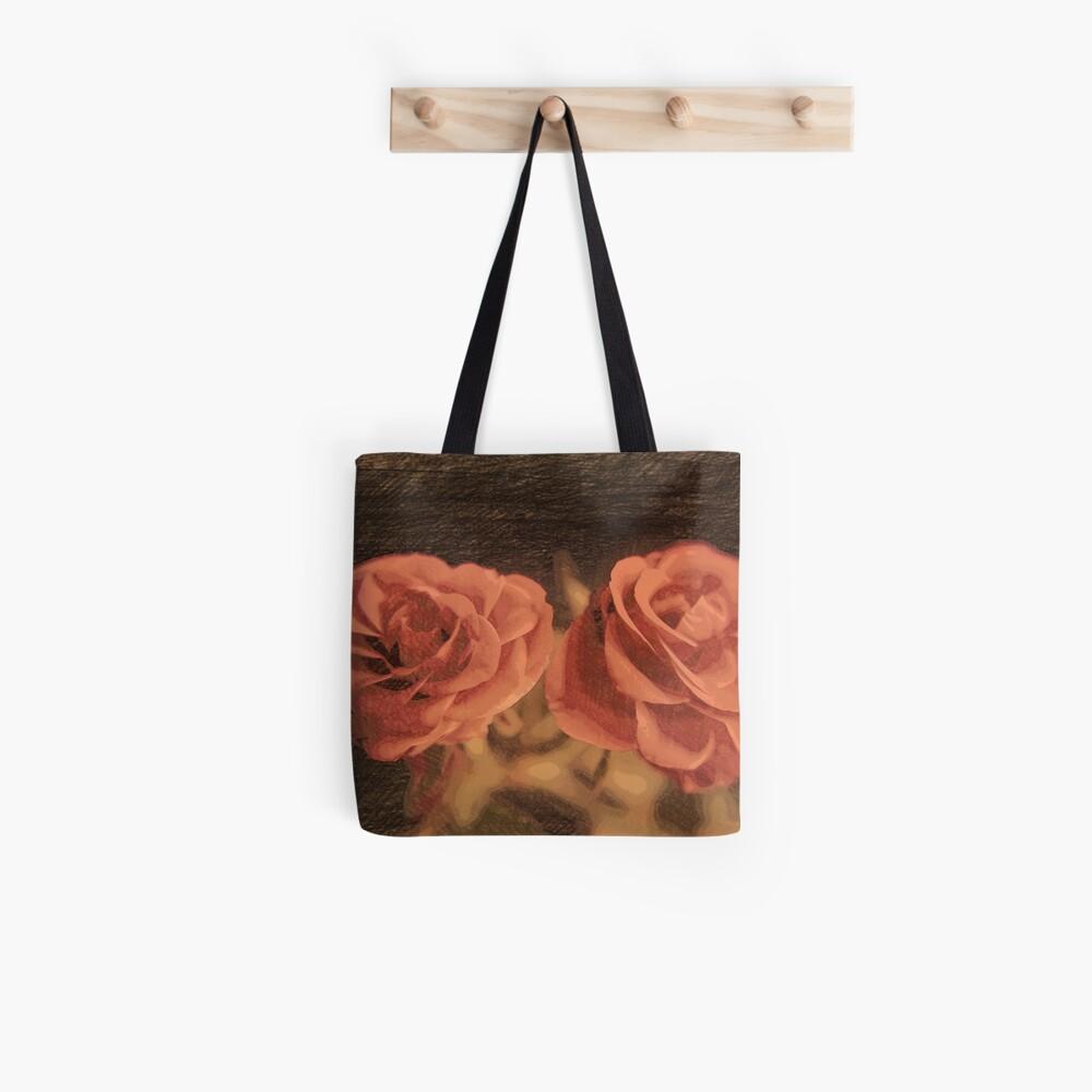 Ein Paar Rosen in sketch3 Stofftasche