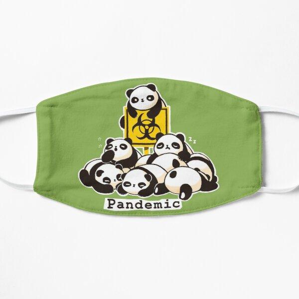 Pandemic Mask - Cute Fluffy Panda - Funny Pun Flat Mask