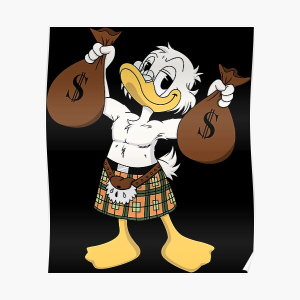 Scrooge McDuck - Pin up Poster