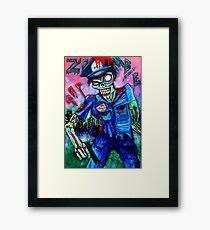 Zombie Cop (Horror Comics, Zombies) Framed Print