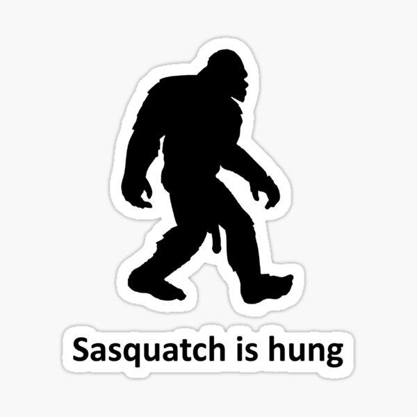 Sasquatch está colgado Pegatina
