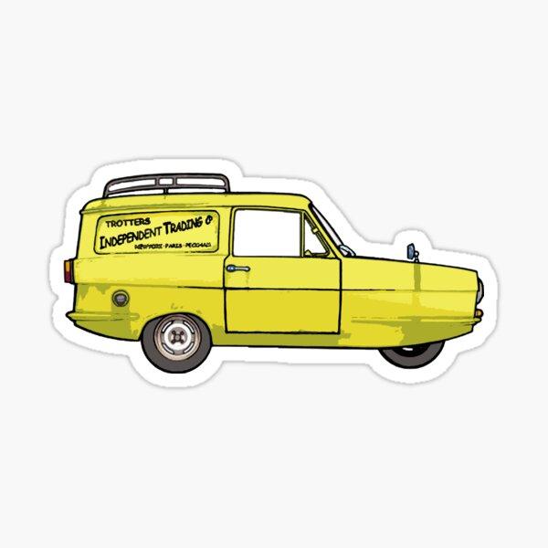 The famous three wheeled van Sticker