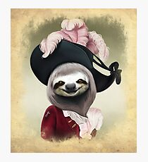 Aristocratic Lady Sloth Oil Painting Style Portrait Photographic Print