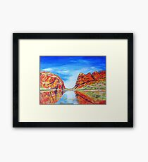 Glen Helen Gorge N.T. Framed Print