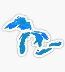 Great Lakes Water Glow Image Sticker