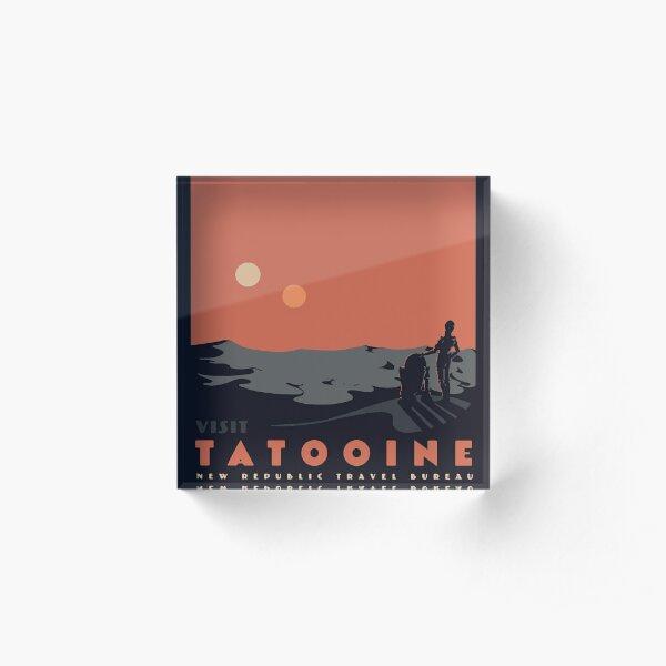Visit Tatooine Acrylic Block